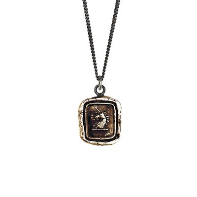 Pyrrha White Light Bronze Talisman Necklace