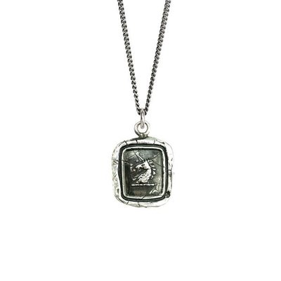 Pyrrha White Light Sterling Silver Talisman Necklace