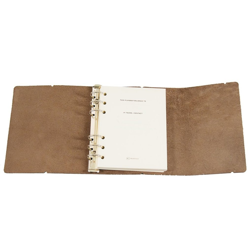 Rustico Leather Weekly Task Planner