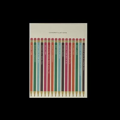 Slate Graduation Card - Pencils