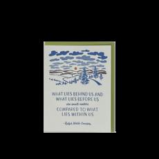 Slate 'What Lies Before Us' Card