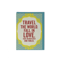 Slate Graduation Card - Travel the World