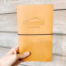Rustico Camels Hump Imprinted Leather Notebook