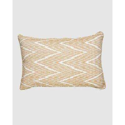Cloth & Co. Chevron Ikat Lumbar Pillow