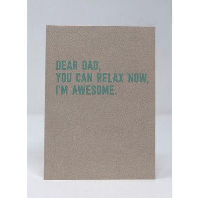 Slate Father's Day Card - I'm Awesome