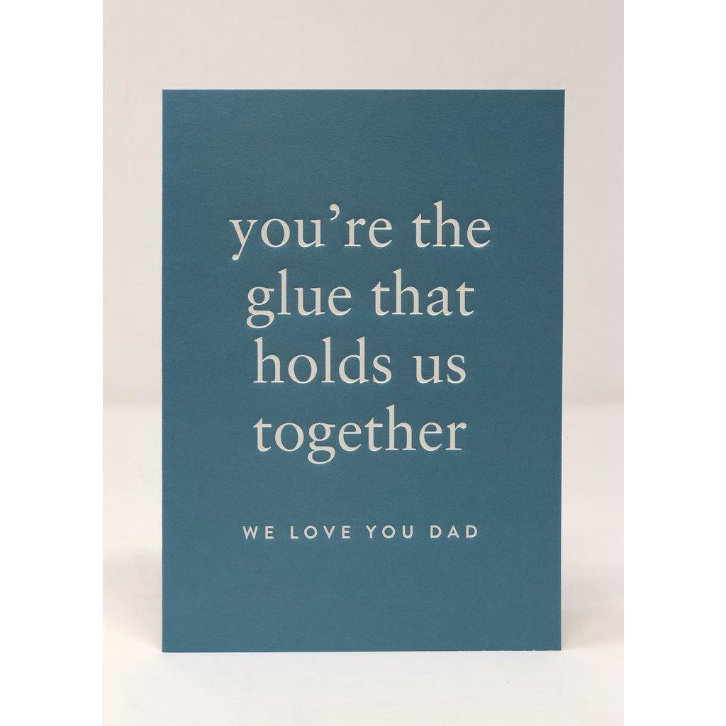 Slate Father's Day Card - Glue