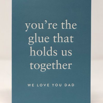 Slate Father's Day Card - Glue