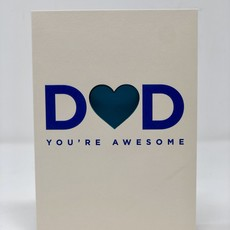 Slate Father's Day Card - You're Awesome