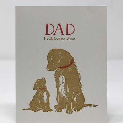 Slate Father's Day Card - Look up to You