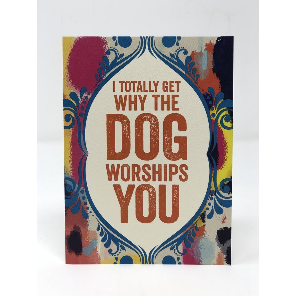Slate Father's Day Card - Dog Worships You