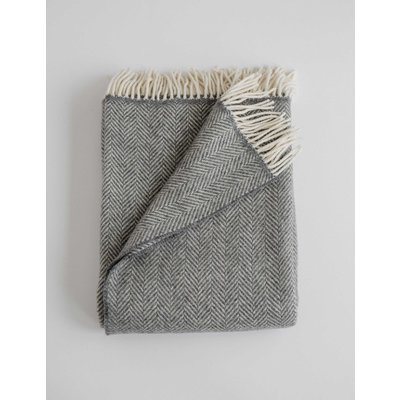 Evangeline Merino Herringbone Throw
