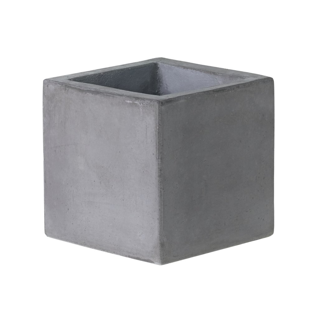 "Slate 6"" Concrete Cube Planter"