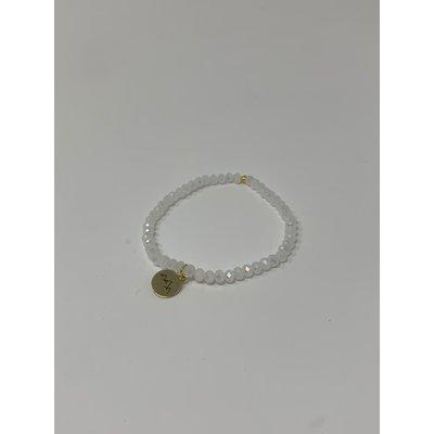 Slate Crystal Single Charm Bracelet