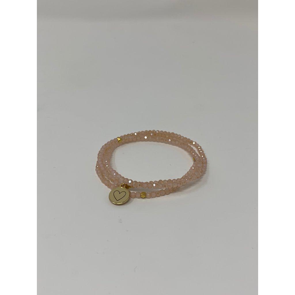 Slate Crystal Wrap Bracelet