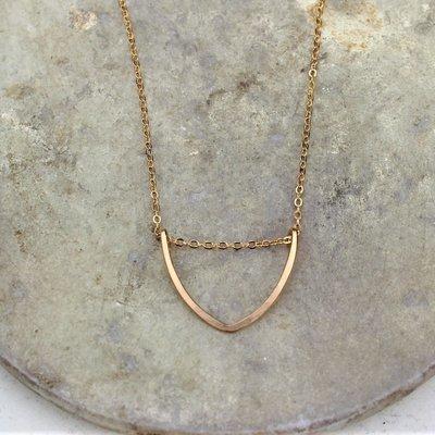 Slate Leaf Necklace