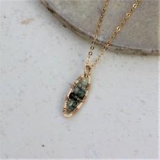 Slate Peapod Necklace