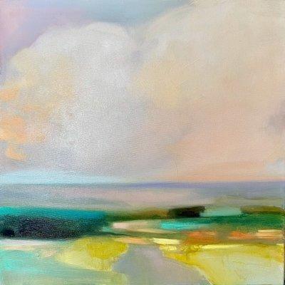 "Julia Purinton ""Looking West"" Acrylic 20x20"