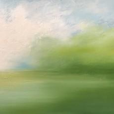 "Chloe Andrae ""Field of Green"" - 24x48"""