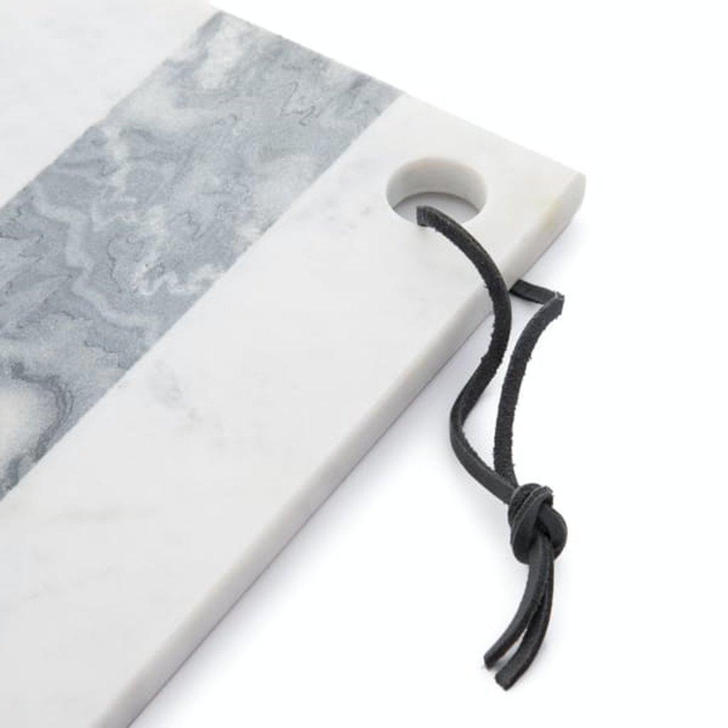 Slate White & Gray Marble Rectangular Board