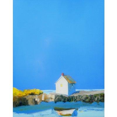 "Janis Sanders Painting ""Fish Shack Reflection"" 20x16"""