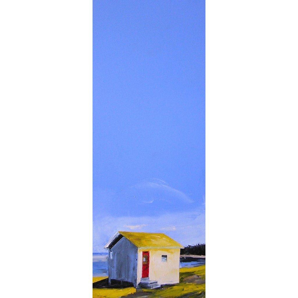 """Janis Sanders """"Cabin on a Bay"""" - 30x12"""""""