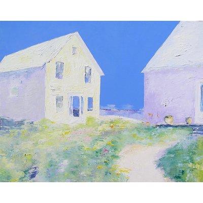 """Janis Sanders Painting """"Beach Houses"""""""