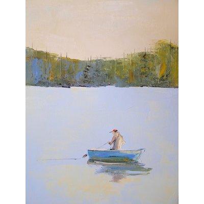 """Janis Sanders Painting """"Almost Ashore"""" 24X48 - Janis Sanders"""