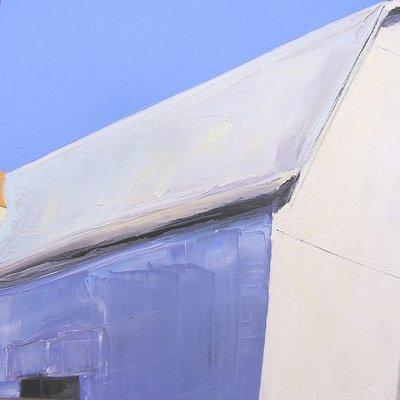 """Janis Sanders Painting """"Roofs & Shadows"""" 14x14x1.5"""" Janis Sanders"""