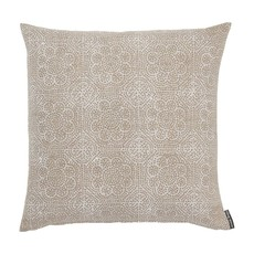 "Slate Wisteria Block Print 22"" Pillow"