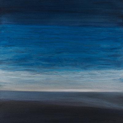 """Teresa McCue """"Indigo Veil"""" - 18x18"""""""