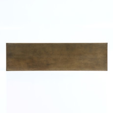 Slate Brass Clad and Angled Iron Console