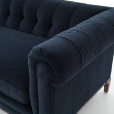 Slate Chesterfield Navy Velvet Sofa
