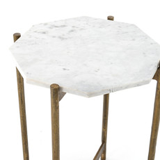 Slate Octagon Marble-top End Table