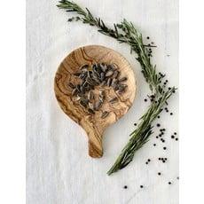Slate Olive Wood Small Round Tapas Dish