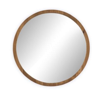 "Slate 40"" Round Smoked Oak Mirror"