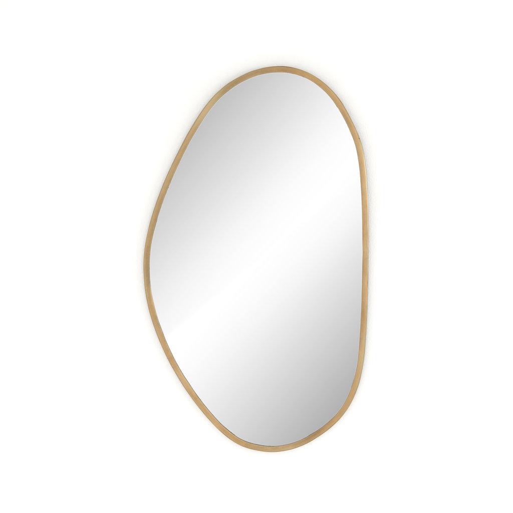 Organic Shape Brass Mirror