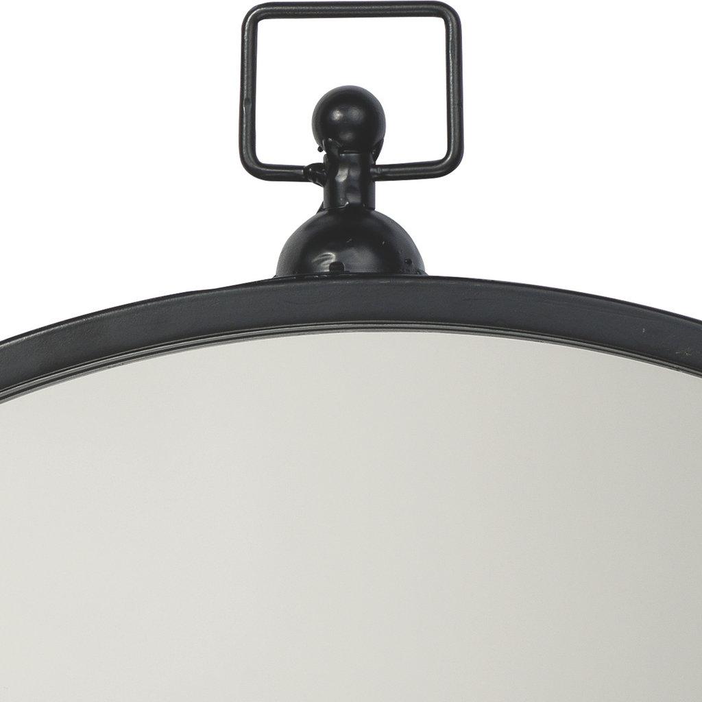 Slate Zoe Round Metal Mirror