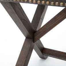 Leather X-base Bench