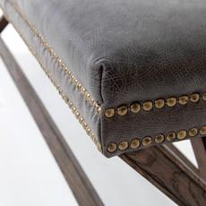 Slate Leather X-base Bench