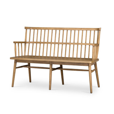 Slate Windsor Oak Entry Bench