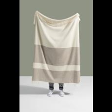 Slate Color Block Stripe Throw