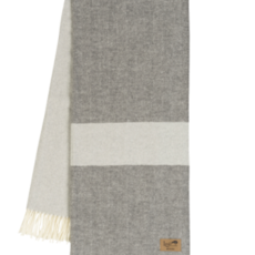 Slate Color Block Stripe Throw