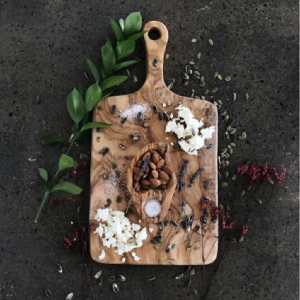 Slate Olive Wood Rectangular Cutting Board