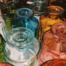 Slate Recycled Glass Vase