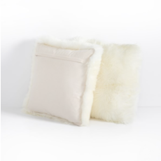 "Slate Cream Lambskin 20"" Pillow"