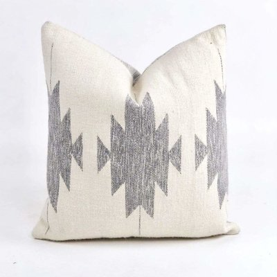 "Slate Handwoven Amba 20"" Pillow"