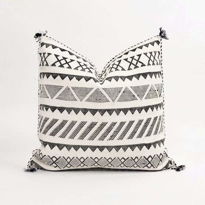"Slate Handwoven 20"" Rayan Pillow"