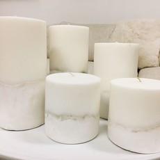 Ombre Concrete Pillar Candle