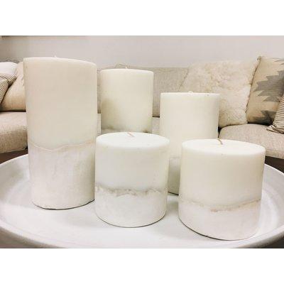 Slate Ombre Concrete Pillar Candle