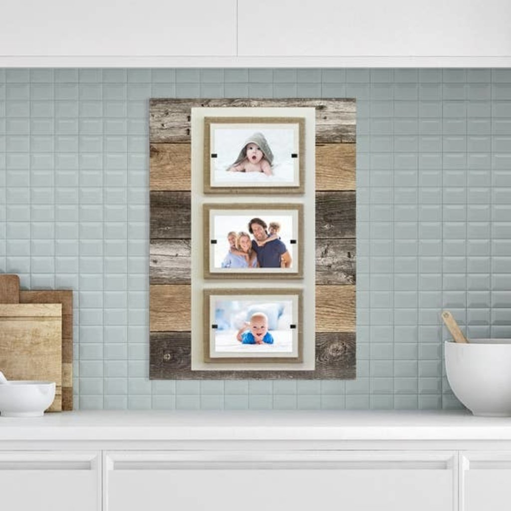 Beach Frames Reclaimed Wood Triple 4x6 Frame